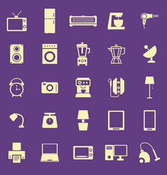 household color icons on purple background vector image