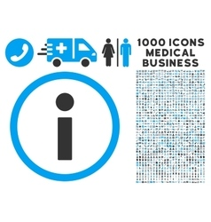 Info icon with 1000 medical business symbols vector
