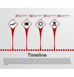 Infographics timeline concept vector image vector image