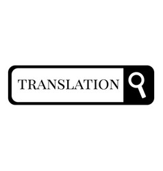 Internet translation icon simple style vector