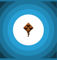 isolated cocoa flat icon delicious element vector image vector image
