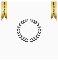 Laurel wreath icon or sign i vector