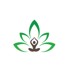 Meditation or spa leaf logo image vector