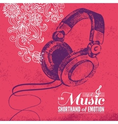 Music background Hand drawn and typography design vector image vector image