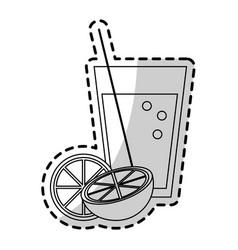 Orange or lemonade icon image vector