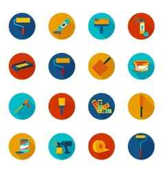 Painting icons colored vector image