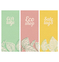 Paper textured banners set vector