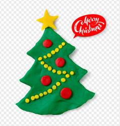 plasticine of christmas tree vector image vector image