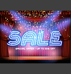 sale lettering stage vector image