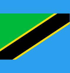 Tanzania flag flat vector