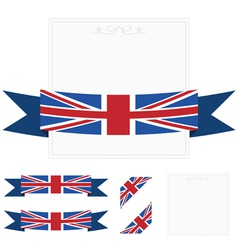 uk ribbons vector image