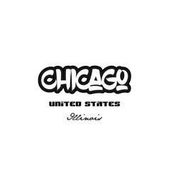 United states chicago illinois city graffitti vector