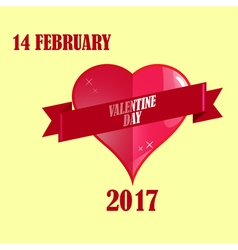 Valentine day february and greeting card vector image vector image