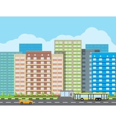 Modern city view cityscape vector