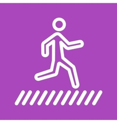 Zebra crossing vector