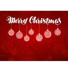 Merry christmas banner xmas decoration vector