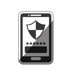 Smartphone password security vector