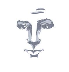 Graphic hand-drawn of white skin attractive naive vector