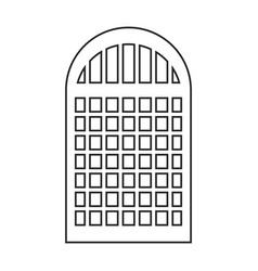 Silhouette of building window icon vector