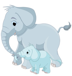 14elephant family001 vector image vector image