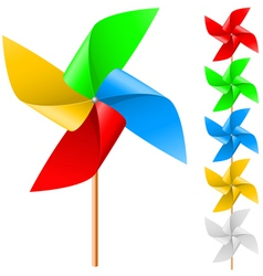 Toy windmill vector