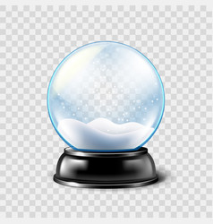 Christmas snow globe isolated vector