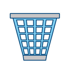Isolated trash can vector