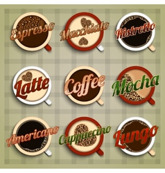 Coffee menu labels set vector
