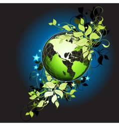 world floral vector image
