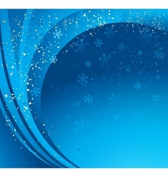Blue winter abstract background vector