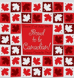 Mosaic canada day card in format vector