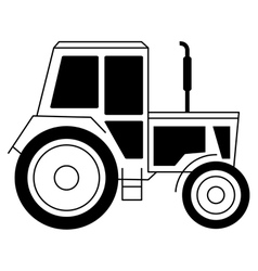 with a tractor vector image