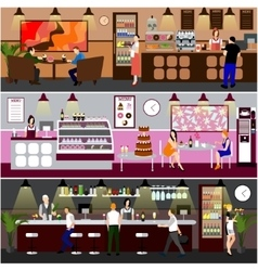 Cafe interior  design of vector