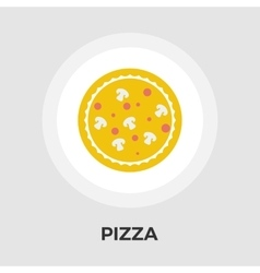 Pizza flat icon vector
