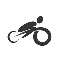 Bike and cycling graphic design vector