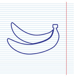 Banana simple sign navy line icon on vector