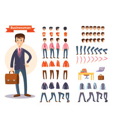 Businessman cartoon personage generator vector
