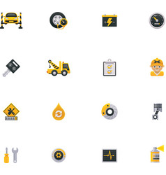 Car service icon set Part 1 vector image vector image