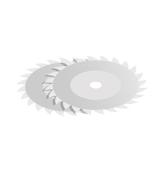 Circular saw blade icon isometric 3d style vector