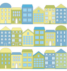 Color cartoon houses vector