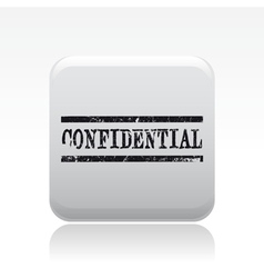 confidential stamp icon vector image vector image