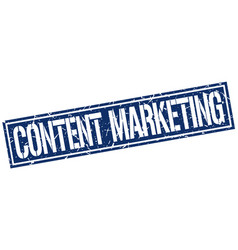Content marketing square grunge stamp vector