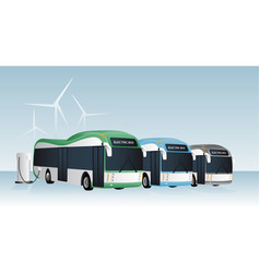 Electric buses row vector