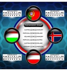 Euro soccer group f vector