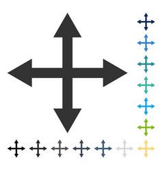 Expand arrows icon vector