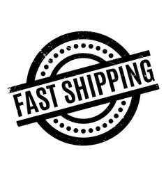 fast shipping rubber stamp vector image vector image
