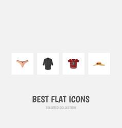 flat icon clothes set of uniform elegant headgear vector image vector image