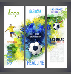 Football championship 2016 sports banners vector