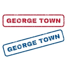 George town rubber stamps vector