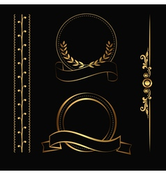 gold contour decorations vector image vector image